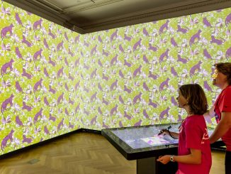 Installation view of Immersion Room. Photo by Allison Hale © 2016 Cooper Hewitt, Smithsonian Design Museum