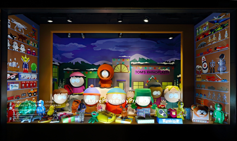 Barneys New York Madison Avenue Holiday Window - Trey Parker and Matt Stone of Comedy Central's South Park (PRNewsFoto/Barneys New York)